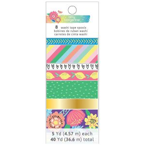 345710_AMERICAN_CRAFTS_AMY_TANGERINE_SUNSHINE_GOOD_TIMES_WASHI_TAPE_SET